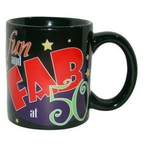Russ Berrie Fun and Fab at 50 Mug 50th Birthday